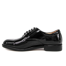 Leather shiny patent leather office shoes 1238