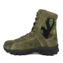 Olive green camo military desert boots 7281