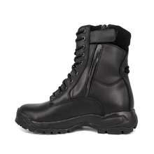Fighting combat durable waterproof black full leather boots 6237