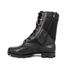 Black british army jungle boots with zipper 5204