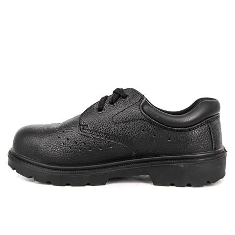 Mens black comfortable safety shoes 3106