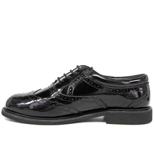 Men's brogue black shiny military office shoes 1282