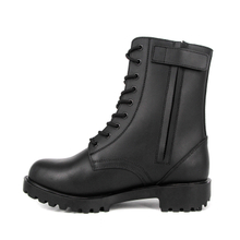 Mens waterproof French military full leather boots 6297