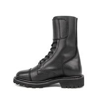 Women's France army embossed leather boots 6225