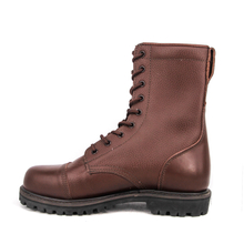 Military combat brown color in army full leather boots 6208