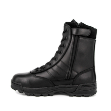 UK work custom zipper military full leather boots 6258