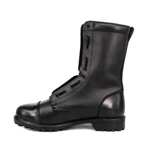 US uniform black genuine navy military full leather boots 6255