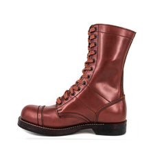 Men's red brown tactical leather boots 6213