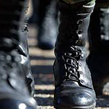 The soles - one of the most important parts of the military boots