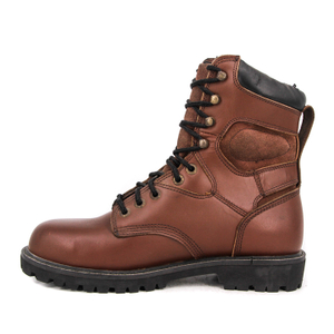 Women's ankle army military full leather boots 6274