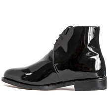 Patent leather minimalist waterproof office shoes 1235