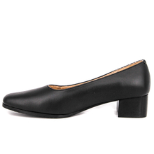 Black low heel female office shoes 1101