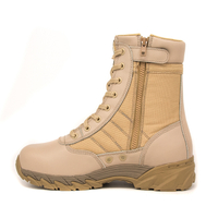 High quality cheap special forces leather military desert boots 7255