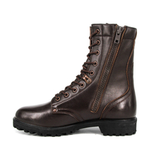 New design cheap red brown combat full leather boots 6291