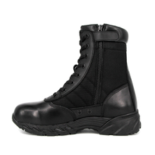 Black rubber sole classic tactical boots 4237