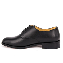 Black leather waterproof office shoes for men 1211