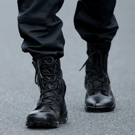Can't afford brand-name military boot, you can wear the same style in milforce.jpg