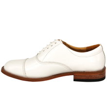 White oxford male's military office shoes 1204