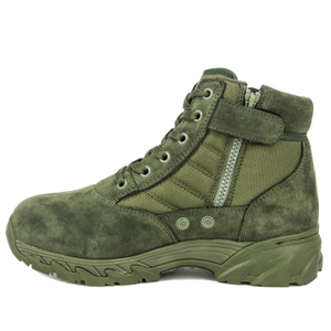 Malaysia green ankle military desert boots 7113